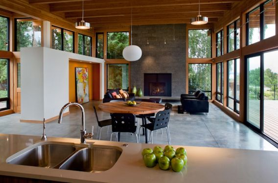 "Eco Modern Home, built by ""Hammer & Hand"", design by Scott Edwards Architecture."