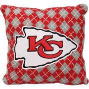 Kansas City Chiefs Knit Argyle Pillow