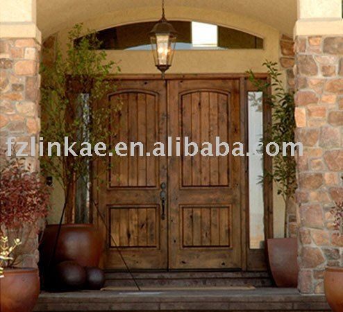 Double Doors Exterior on Wood Double Entry Door Classic Doors View Knotty Alder Exterior Door
