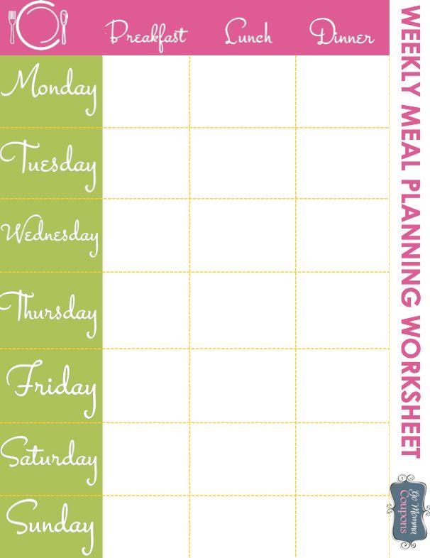 Best 20+ Meal planner printable ideas on Pinterest | Meal planner ...