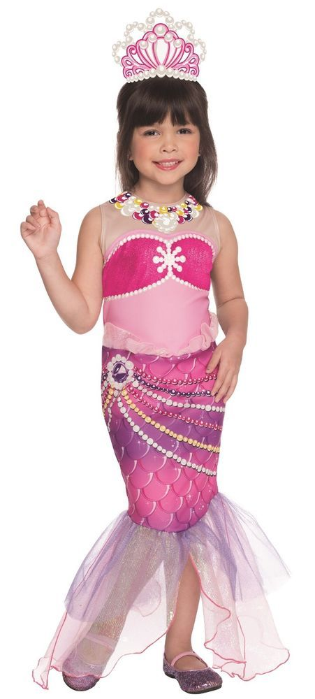 Barbie Pink Mermaid Costume Lumina Princess Toddler Child Girls Kids Fancy Dress #Barbie #CompleteCostume