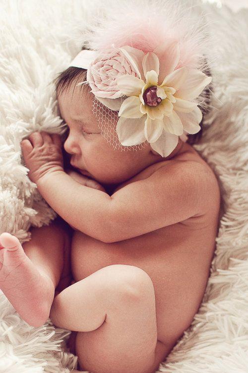 Vintage Pink Headband-dew drops, headbands, trendy, hair accessories, newborn, infant, toddler, baby boutique, baby shower gift, baby registry, flower, jeweled, vintage