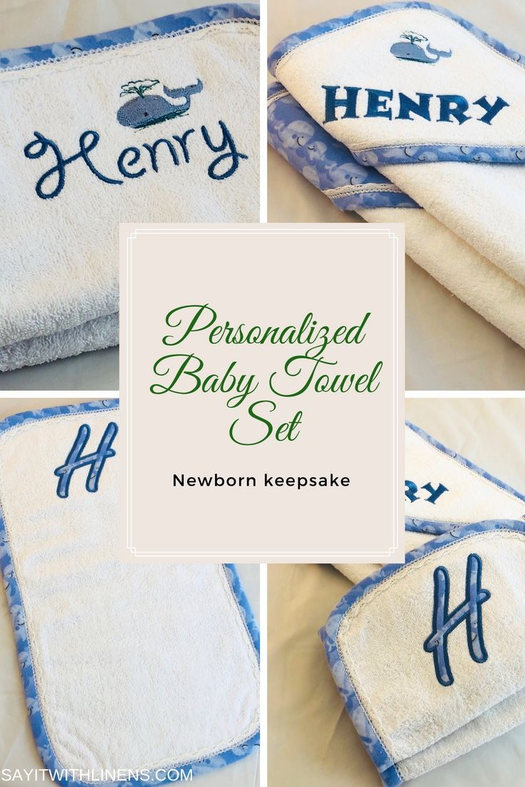 Personalized Baby Towel Whale Design 100 Cotton Baby Towel And Matching Burp Cloth Trimmed With B Linen Guest Towels Monogrammed Bath Towels Monogram Towels