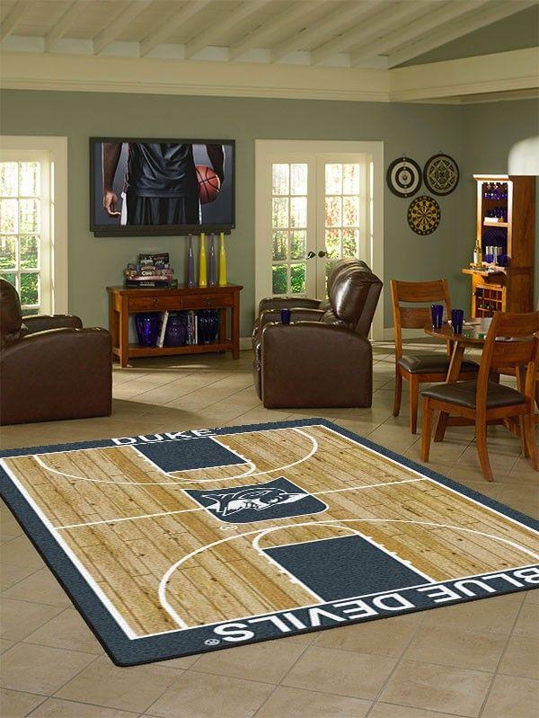 Duke Collegiate Basketball Court Rug
