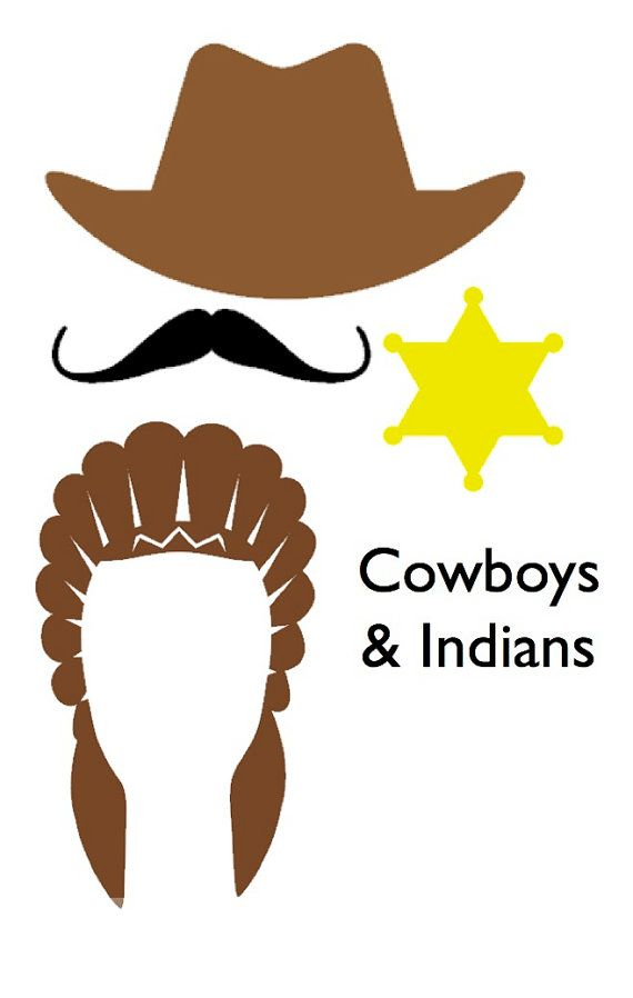 Photo Booth Props Cowboys And Indians By Partyinapakage On