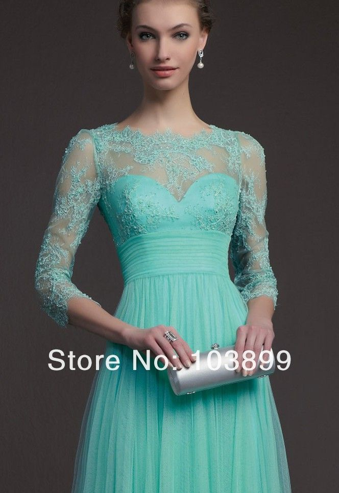 Fabulous A Line Empire Waist Scoop Neck Mint Green Tulle
