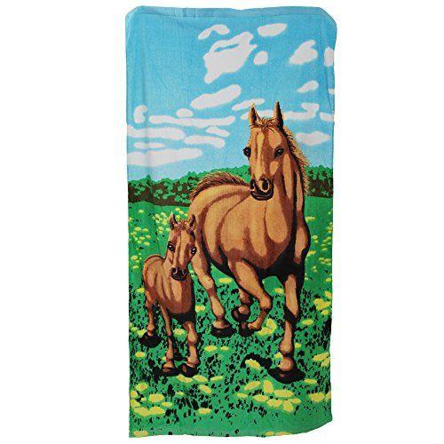 Telo mare con disegno di cavallo (70cm x 140cm) (Cavalli) in OFFERTA su www.kellieshop.com Scarpe, borse, accessori, intimo, gioielli e molto altro.. scopri migliaia di articoli firmati con prezzi da 15,00 a 299,00 euro! #kellieshop Seguici su Facebook > https://www.facebook.com/pages/Kellie-Shop/332713936876989