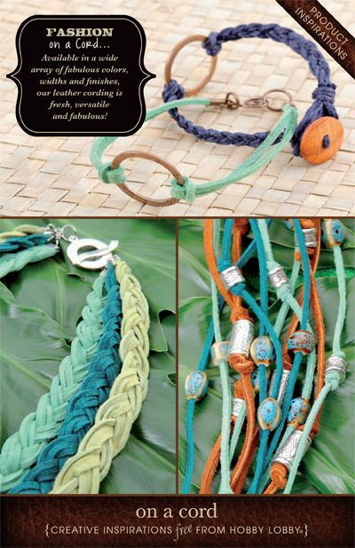 Create these unique and stylish jewelry designs with our large stock of Leather and Jewelry products.