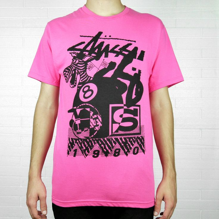 "STUSSY DONKEY COLLAGE TEE ""PINK"" 