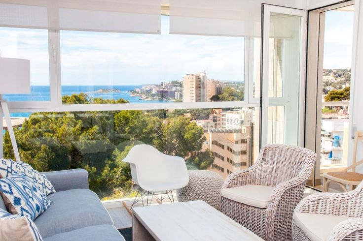 Cala Mayor/ San Agustin, Palma de Mallorca: Two bedrooms and a breathtaking view in Cala Mayor
