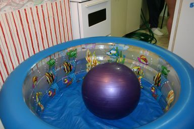 how to set up a kiddie pool for birth