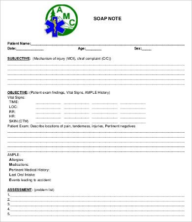 soap note form Dean routechoice co   imran h and p   Soap
