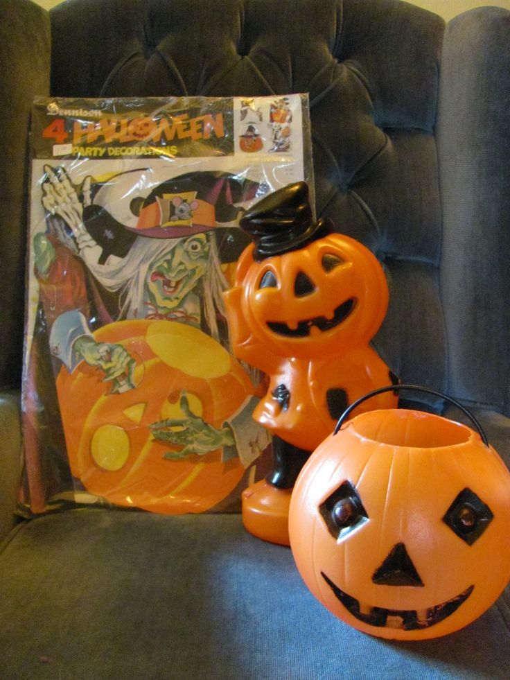 15 best vintage holiday items images on Pinterest Vintage holiday - halloween decorations vintage