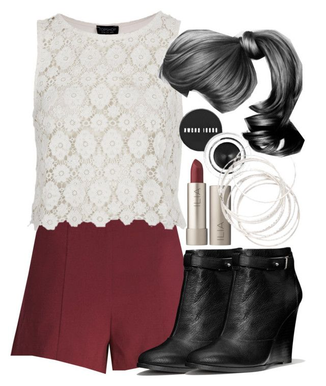 """""""Lydia Inspired Clubbing Outfit with Shorts"""" by veterization ❤ liked on Polyvore featuring Forever 21, Topshop, Coach, Bobbi Brown Cosmetics and Ilia"""