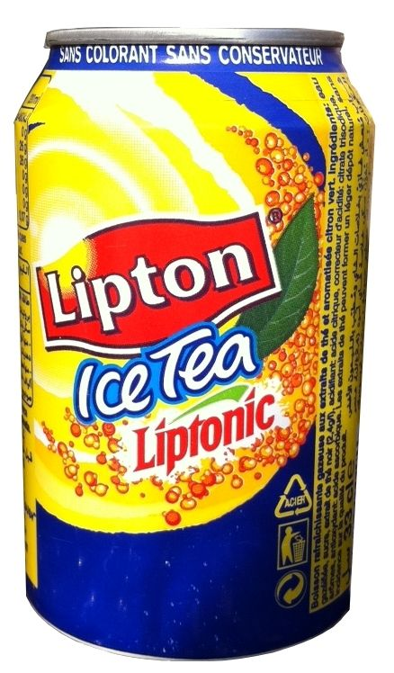 LIPTONIC $2.50 Liptonic sparkling ice tea is a summer favorite in France. Enjoy its fresh lime flavor on long hot afternoons. A world-class company, Lipton has nevertheless caught up with French taste with a range of beverages aimed specifically for the French market. 33 cl / 11.2 fl oz