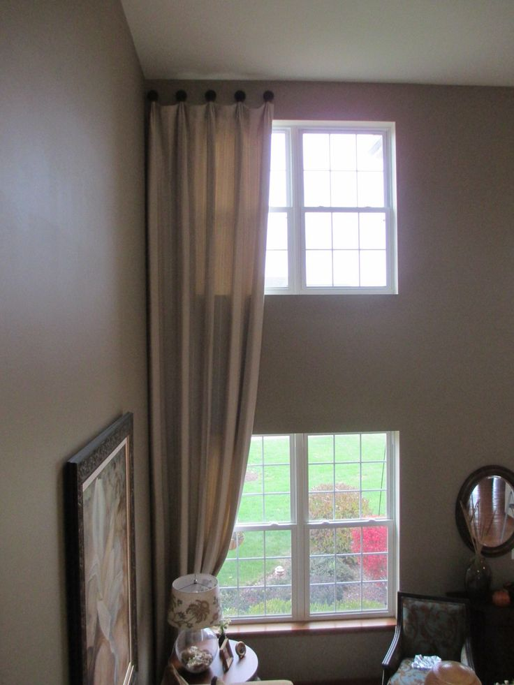 105 best two story drapery ideas images on pinterest for Blinds for tall windows