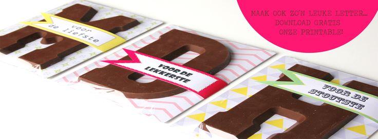 Pimp je Chocoladeletter, Gratis Download met tutorial.