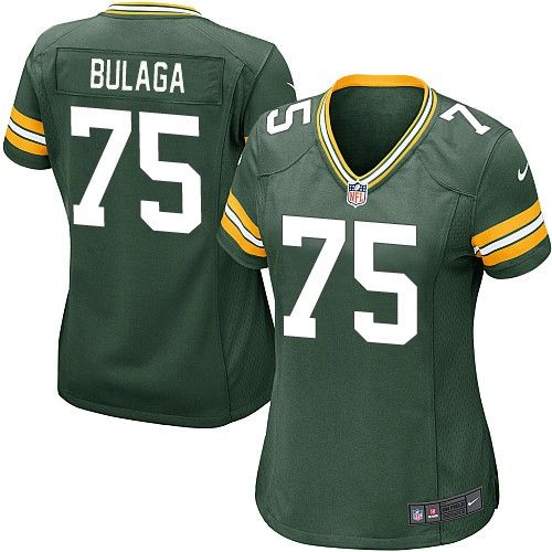 Women Nike Green Bay Packers Bryan Bulaga 75 Green NFL Jersey for Sale Sale