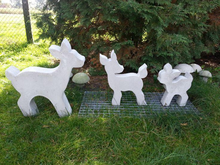 Giessform Beton -BAMBI- Sooo süß ! 30 cm von Beton in Form auf DaWanda.com