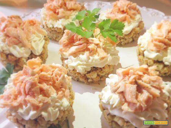 Mini Cheesecake Salate #ricette #food #recipes