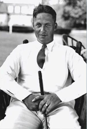 Bobby Jones the Atlanta golf player who really glamorized golf in the twenties and thirties and was the star golfer of the time.
