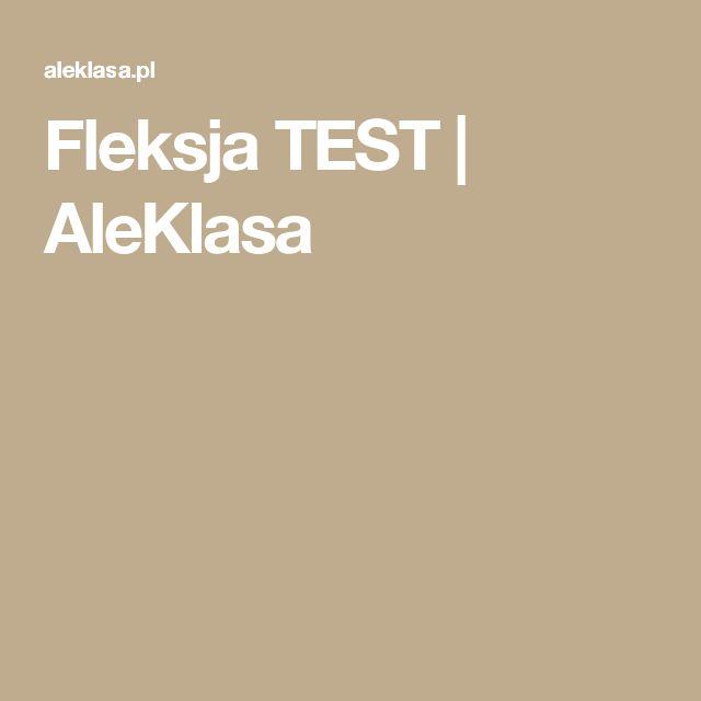 Fleksja TEST   AleKlasa