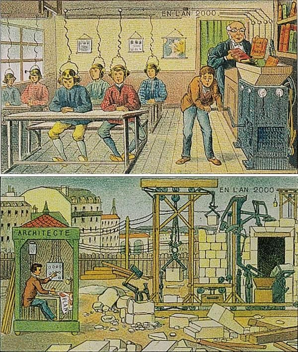 Villemard's Vision: 1910 Postcards Depict the Year 2000