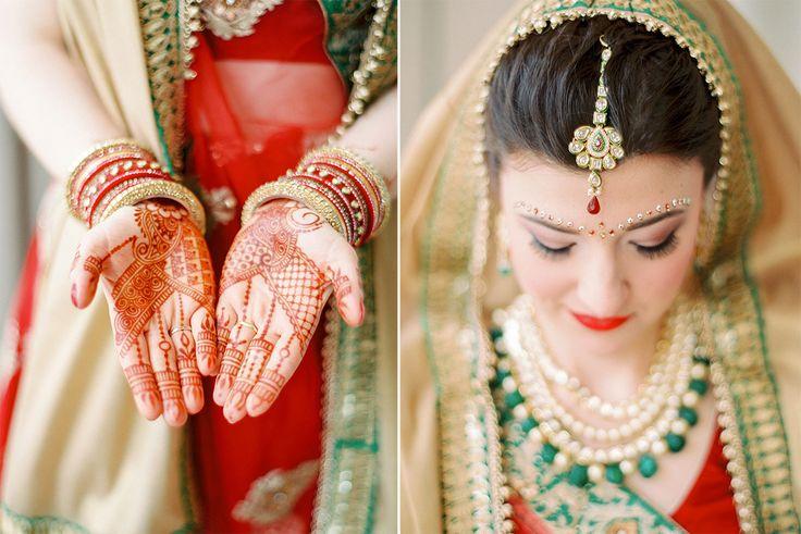 indian bride binis stärkeres make-up rote lippen stark geschminkt
