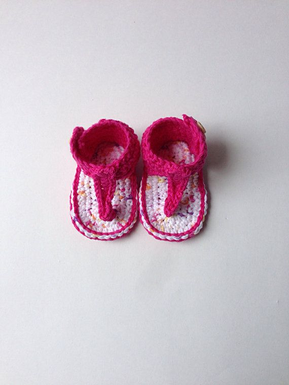 Crochet Baby Girl Gladiator Sandals, childrens crochet flip flops, knit baby sandals, prewalker summer shoes, infant toddler beach sandals, on Etsy, $30.00 CAD