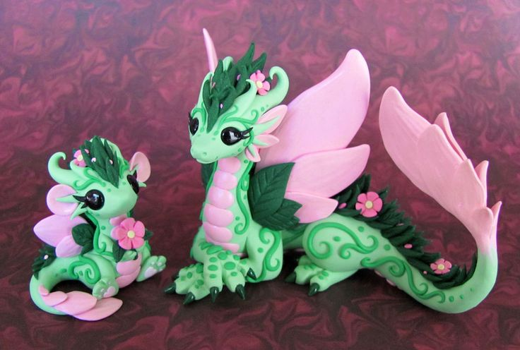 Flower Dragons 1 by DragonsAndBeasties.deviantart.com on @deviantART - Cutest dragons ever <3 #art