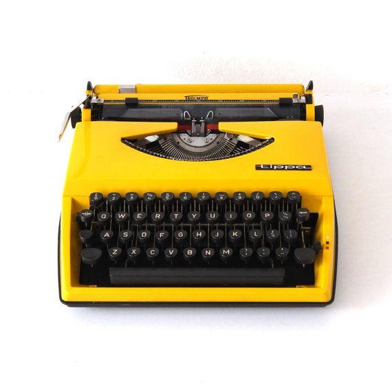 Triumph Tippa S Typewriter by pukpuk on Etsy