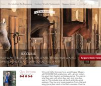 Lead generating website for CowBoyWealth.com Chris Sorrensen at Melaleuca Inc. Network Marketing