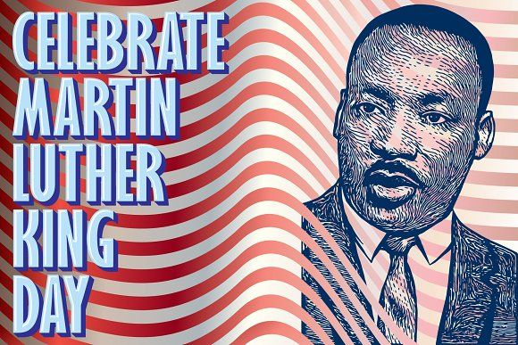 Martin Luther King Jr Vector Art By Mysterylab Designs On Creativemarket In 2021 Martin Luther King Jr King Jr Martin Luther King Day