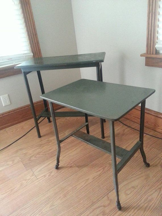 Check out this item in my Etsy shop https://www.etsy.com/listing/387170212/vintage-drafting-tables-wood-and-metal