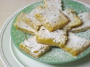 Лимонные пирожные с лавандой