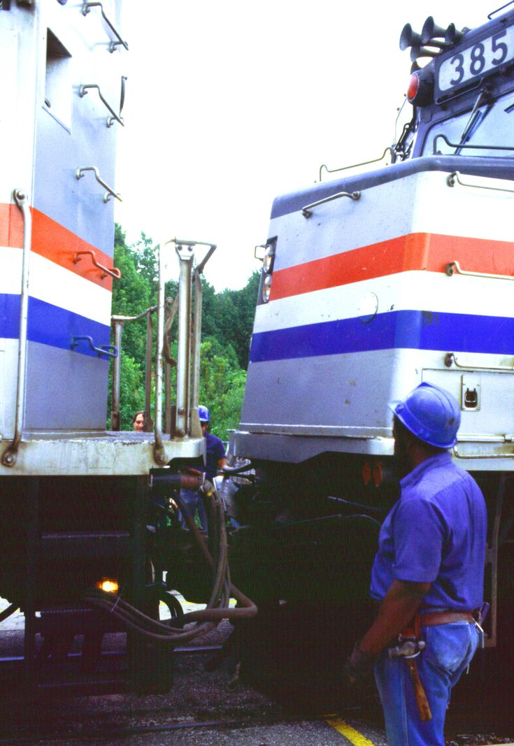 Combining Amtrak Trains at Jacksonville, Fla., 1982. © Philip Abromats.  Creative Commons license: Attribution-NonCommercial-ShareAlike  CC BY-NC-SA