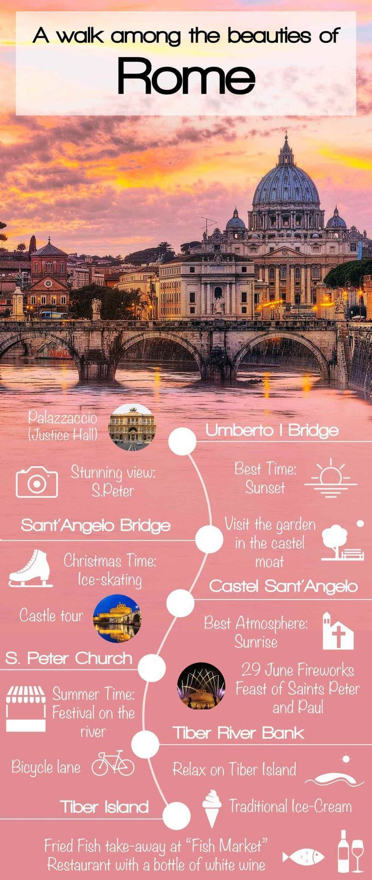 Our journey of discovery through the beauties of Italian peninsula begin with a pleasant walk among the monuments of the Eternal City. Travel in Europe.