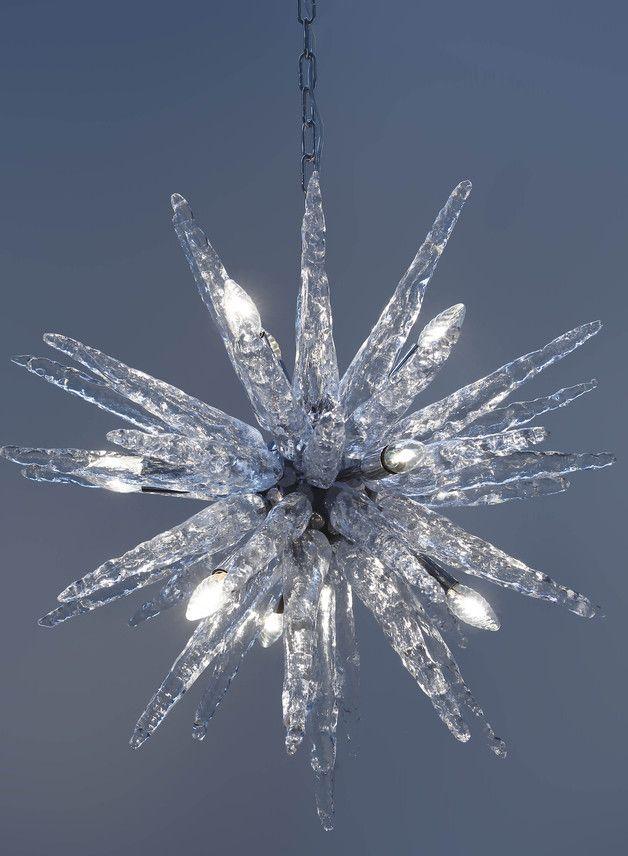 Lámpara de araña cristal de murano - iluminación y decoración del hogar - hecho a mano en DaWanda.es