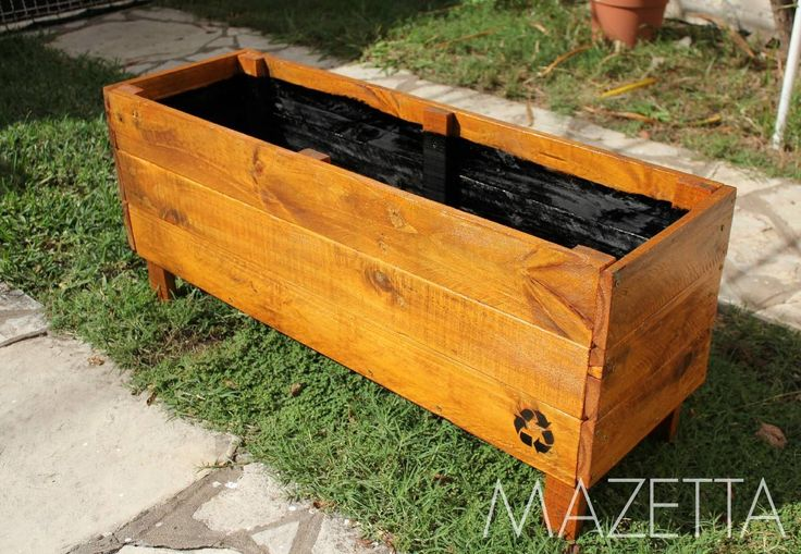 19 best muebles por hacer images on pinterest home ideas - Maceta de madera ...