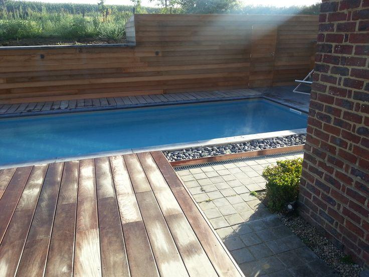 Zwembad met liner elbe grijs zwembaden jr pools pinterest met - Zwarte voering voor zwembad ...