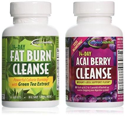 Best Value Pack 14-Day Acai Berry Cleanse 14-Day Fat Burn Cleanse
