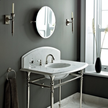 The glamorous Raphael Console available in four stones and the choice of Polished Nickel or Chrome legs.