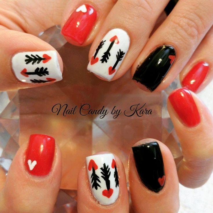 64 best nail candy by kara images on pinterest kara nail candy valentines day nails cupid nails prinsesfo Choice Image
