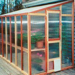 Mariposa Lean-To 7' W x 8' L Redwood Greenhouse