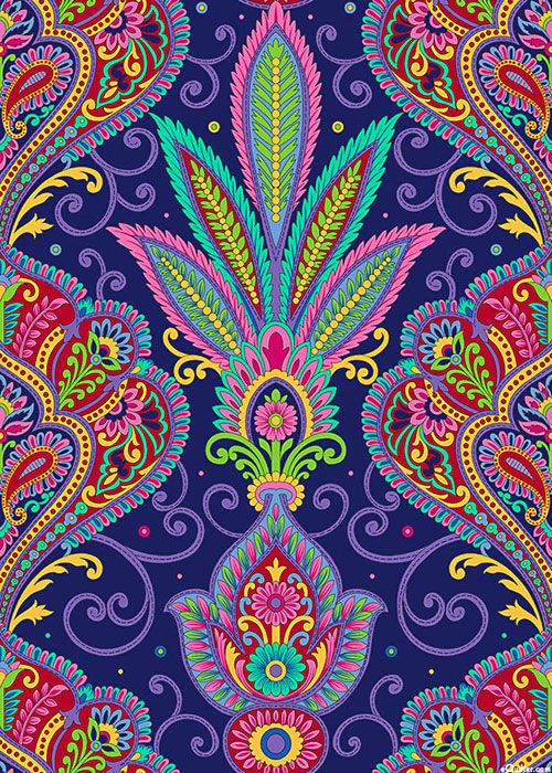 Imperial Paisley - Fan of Feathers - Violet Purple