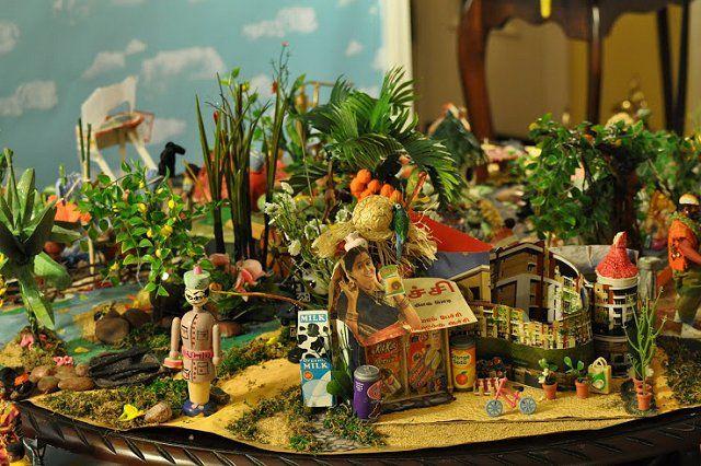 Navratri golu - idea #7 - village theme and others
