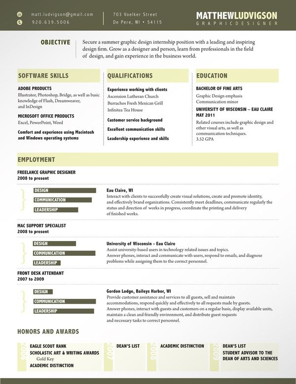 Best Resumes Images On   Curriculum Design Resume
