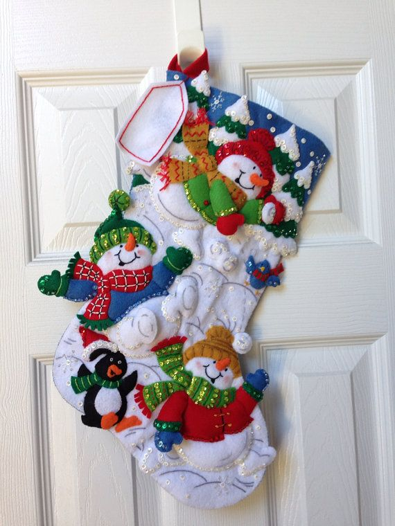 Finished 18 Bucilla Christmas Stocking by JillianBCreations