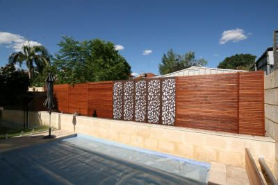 best 25 timber feature wall ideas on pinterest wall On pool fence screening ideas
