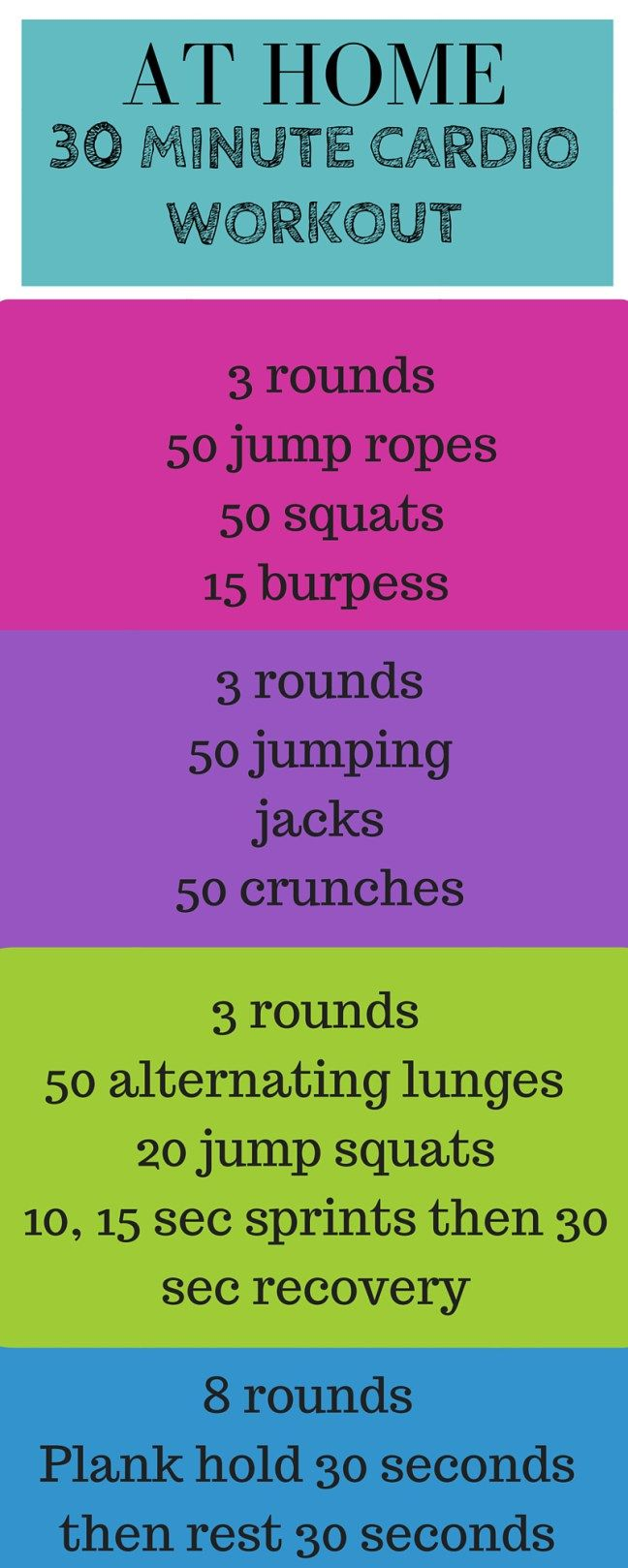 At home 30 minute cardio workout